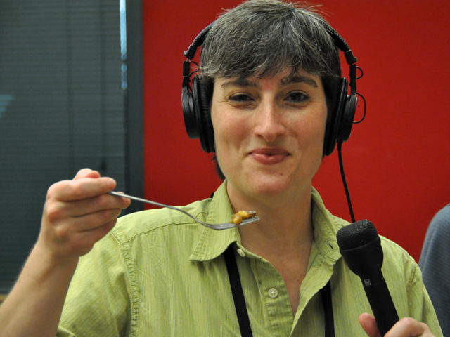 St. Louis Public Radio reporter Véronique LaCapra eats cicadas. All in the name of science!