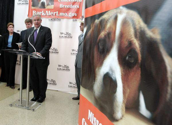 Governor Nixon made the announcement Tuesday at the Humane Society of MIssouri office in St. Louis.