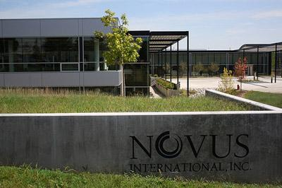 Novus International headquarters in St. Charles, Mo. Novus will host a roundtable on June 15 about animal agriculture and feeding the growing world population.
