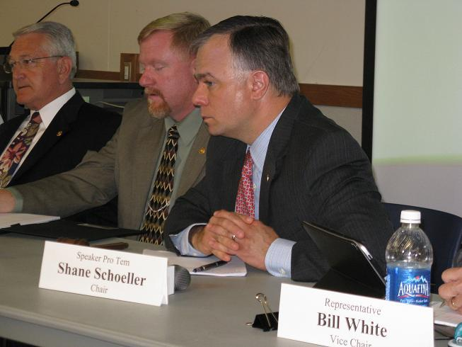 Mo. House Speaker Pro-tem Shane Schoeller (R, Willard), chair of the House Interim Committee on Disaster Recovery.