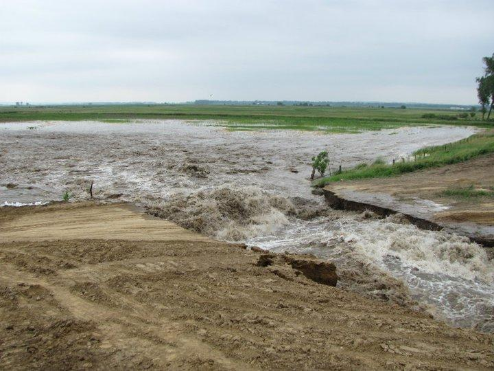 Levee breach in Atchison County, Missouri, on June 13, 2011.