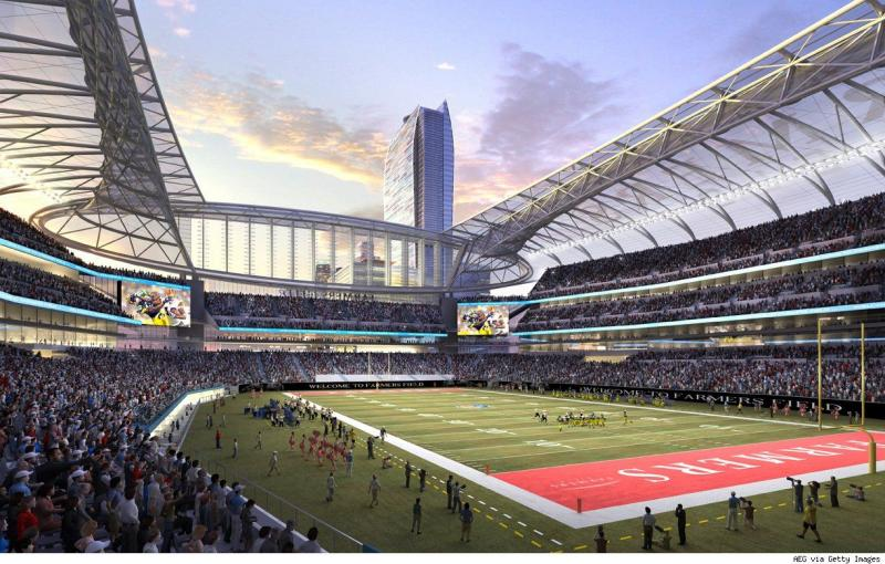 rendering of Farmers Field in Los Angeles
