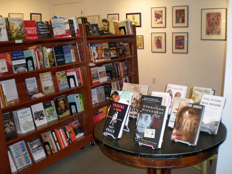 A display at Subterranean Books on Delmar.