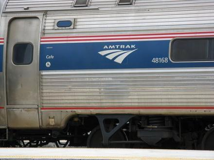An Amtrak traincar.