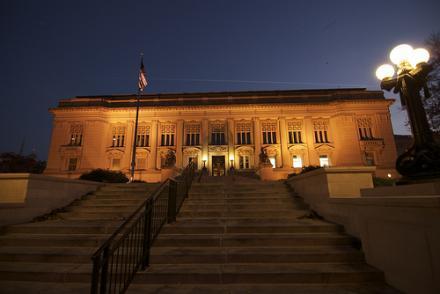 The Illinois Supreme Court building in Springfield, Ill.
