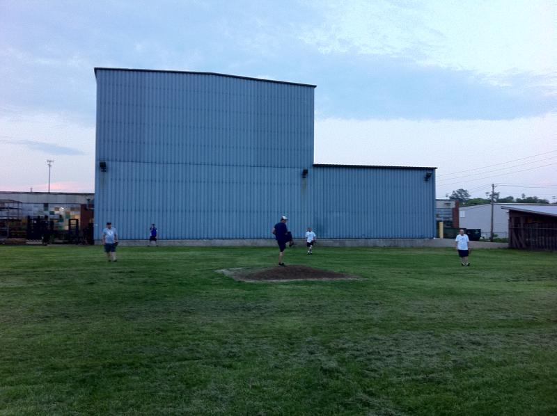"The ""Blue Monster"" at the Gateway Corkball League fields in Dutchtown"