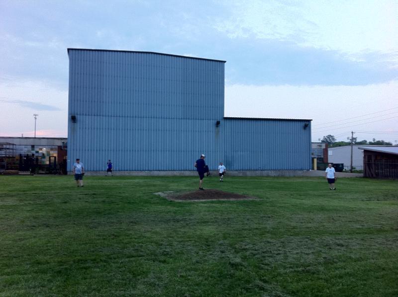 "The ""Blue Monster"" at the Gateway Corkball League fields in Dutchtown"