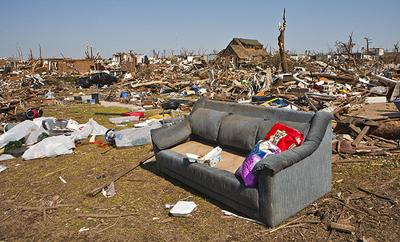 The scene in Joplin, Mo. following the May 22 tornado that swept through the area. Insurance claims from the disaster are expected to set a state record.