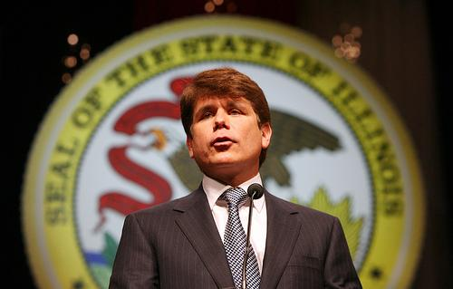 Former Ill. Gov. Rod Blagojevich. Blagojevich was convicted of 17 out of 20 counts in his corruption retrial.