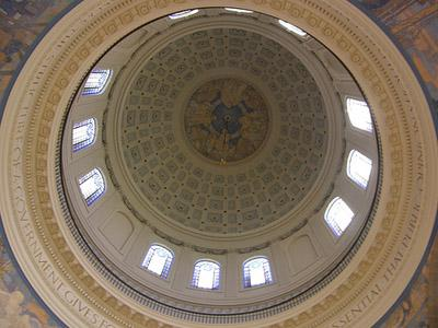 An interior view of the dome of the Missouri State Capitol building in Jefferson City, Mo.