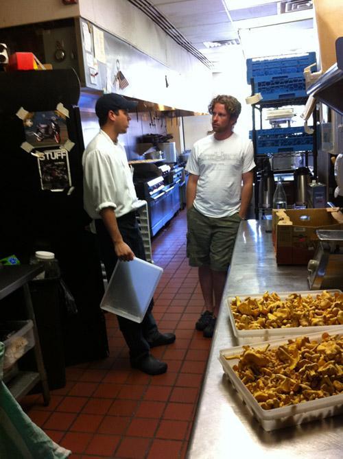 Chef Adam Gnau and Ryan Maher talk mushrooms at Acero in Maplewood.