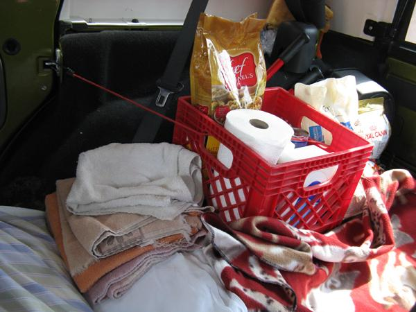 Donations keep the back of the rescue Jeep stocked with all the supplies necessary for a rescue.