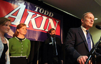 U.S. Rep. Todd Akin (R-St. Louis) announces he will challenge Sen. Claire McCaskill for her seat in 2012 on May 17, 2011.