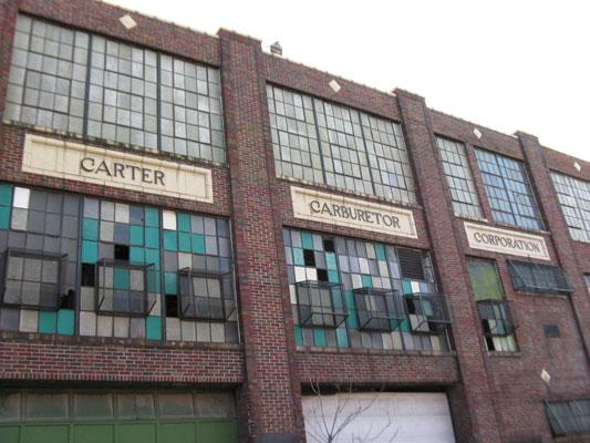 The Carter Carburetor plant spans an entire city block and has been vacant since 1984.