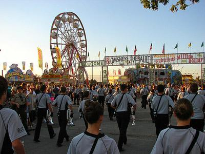 A view of the 2011 Illinois State Fair.
