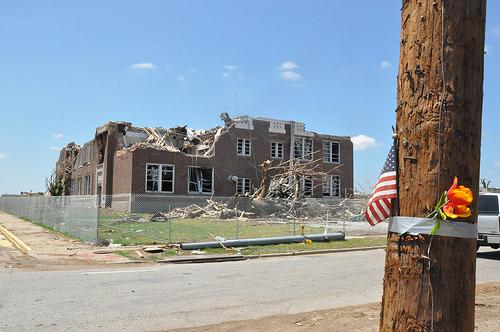 Irving Elementary School was one of many schools that were severely damaged in Joplin, Mo., when a massive tornado struck the city on May 22.