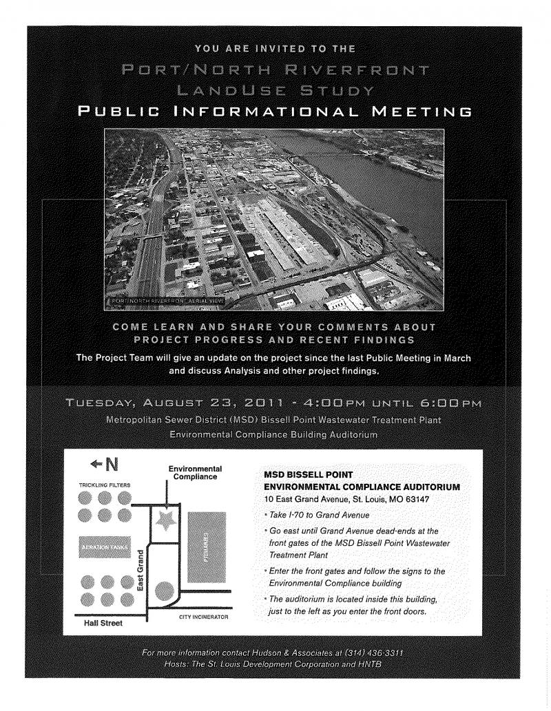 St. Louis Development Corporation meeting flyer.
