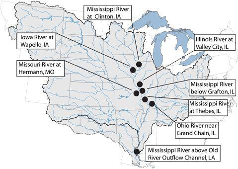 Nitrate Pollution In Mississippi River Basin Remains At S - Us map mississippi river