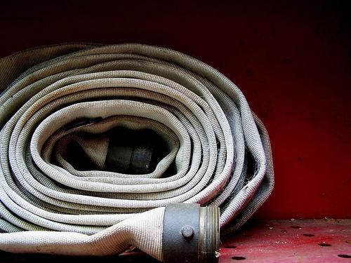 A fire hose.