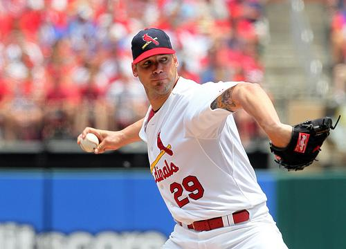 St. Louis Cardinals pitcher Chris Carpenter. The Cards completed one of the more remarkable comebacks in baseball history, clinching the NL wildcard Wednesday night with an 8-0 win over Houston and a later loss by Atlanta.