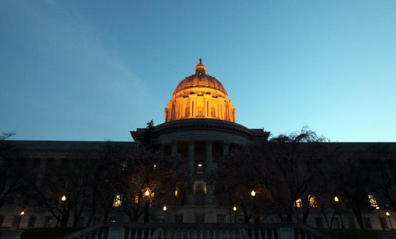 The Mo. Capitol at dusk