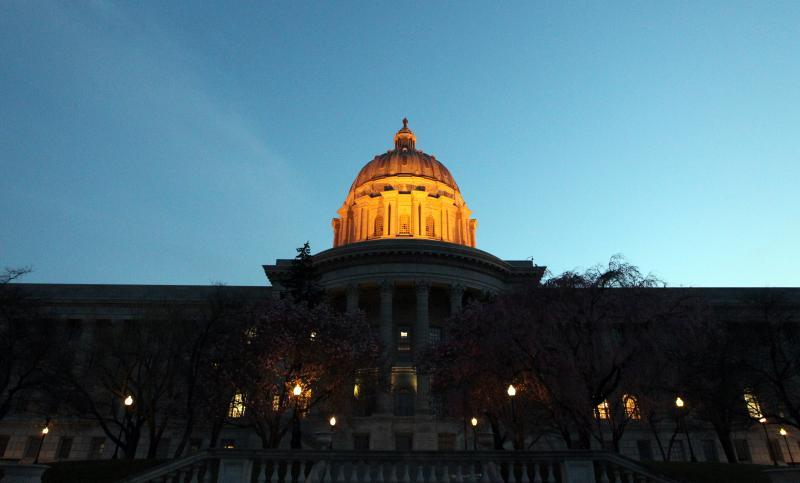 The Mo. Capitol at dusk