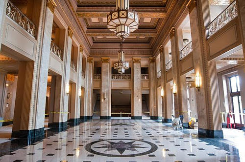 The Grand Lobby of the Peabody Opera House in June 2011. The venue reopens on October 1 after 20 silent years and a 14-month renovation.