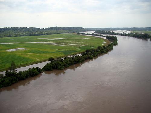 Missouri River flooding between Rulo, Neb. and Waverly, Neb.