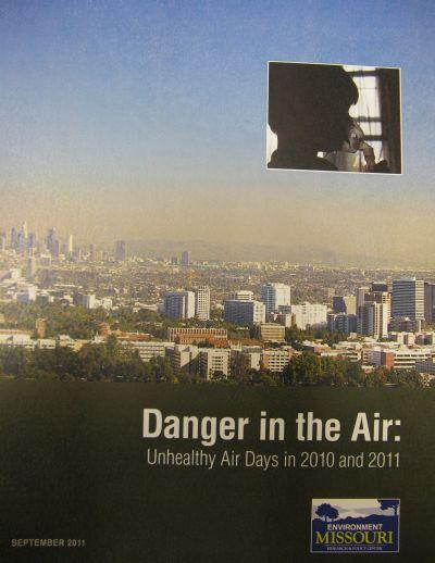 A September 2011 Environment Missouri report on smog pollution ranks St. Louis air quality among the worst in the nation.