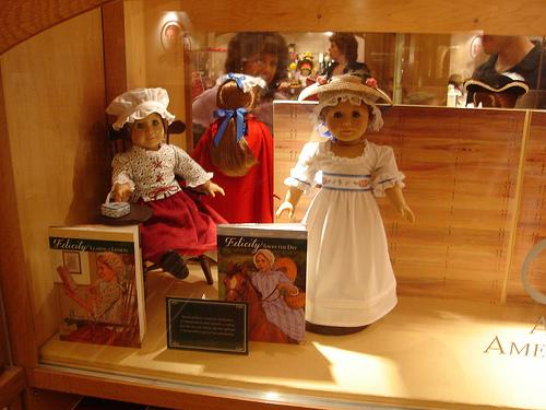 Patrons view dolls and accessories at the American Girl Place store in New York City.