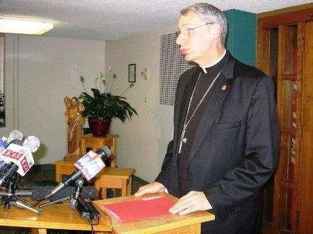 A photo of Bishop Robert Finn of the Diocese of Kansas City- St. Joseph, taken in 2008.