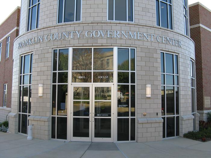 The Franklin County government building in Union, Mo., where the County Commission meets.