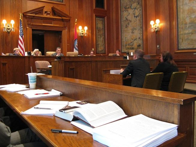 The Mo. Senate Committee on Governmental Accountability questions two employees from the Dept. of Economic Development regarding the agency's role in bringing Mamtek to Moberly, Mo.
