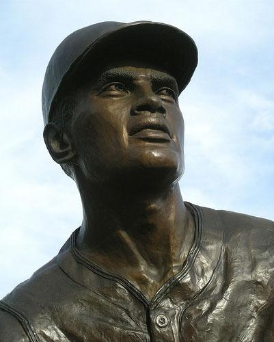 A statue of Roberto Clemente at PNC Park in Pittsburgh.