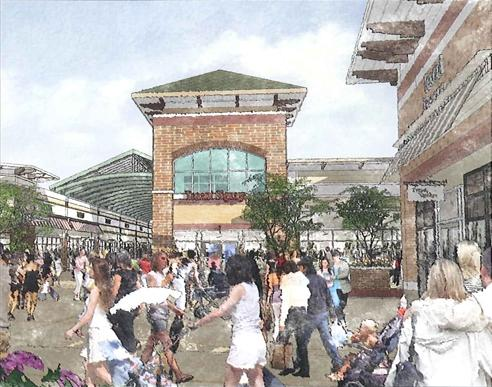 Rendering of Spirit of St. Louis Outlets mall