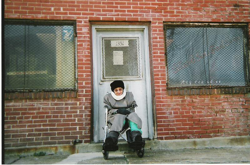 Lille Pearson, age 90, pictured in front of Tillie's Food Shop. The popular grocery store closed in 2006.