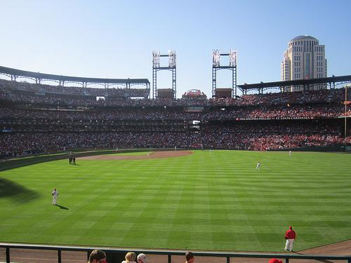 The announced attendance was 46,914 at Busch Stadium in St. Louis for the Cardinals' playoff game against the Philadelphia Phillies on Oct. 4, 2011.