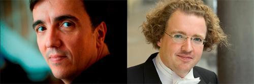 Pianist Eric Le Sage (l) and conductor Stéphane Denève.