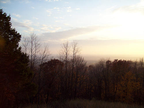 A view over Pere Marquette State Park in Grafton, Ill.