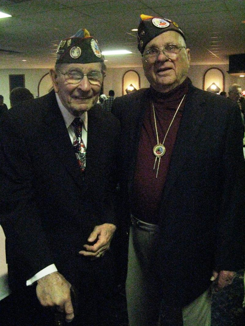 Harold Mueller (left) and Donald Green were among many WWII veterans honored on the 67th anniversary of the Battle of the Bulge.