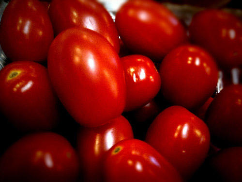 Grape tomatoes.