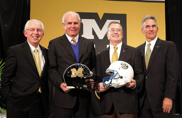 Mizzou and SEC officials after Mizzou officially announced on Nov. 6th that Mizzou would join the SEC on July 1, 2012. The conference's football schedule released today includes Mizzou.