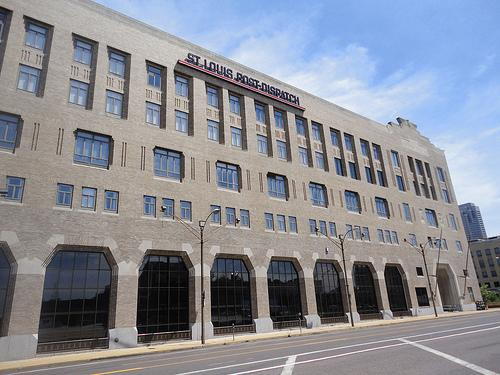 The St. Louis Post-Dispatch building in St. Louis.