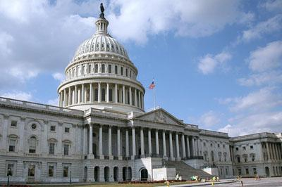The United States Capitol building in Washington.