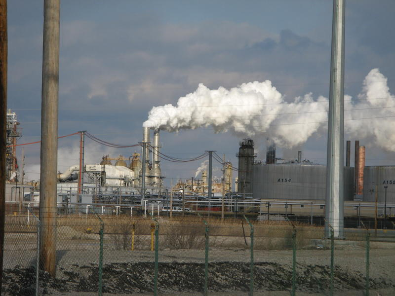A view of the Wood River Oil Refinery in Roxana, Ill. The Village of Roxana filed suit today in relation to contamination from the refinery.
