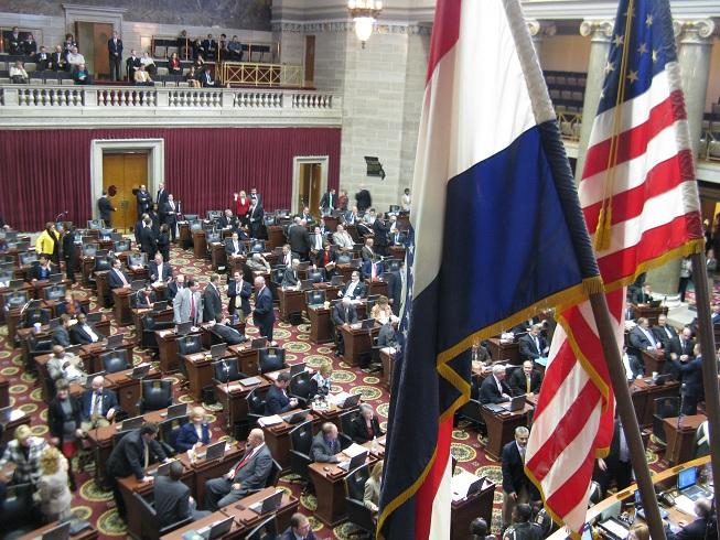 Floor of the Mo. House on opening day of the 2012 regular legislative session.