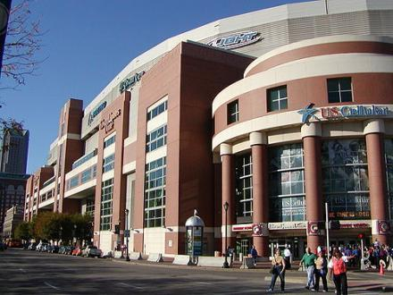 The Edward Jones Dome, home of the St. Louis Rams.