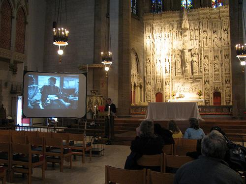 "Participants in the 2011 ""Let Freedom Ring"" celebration at Christ Church Cathedral listen to the words of Dr. Martin Luther King Jr."