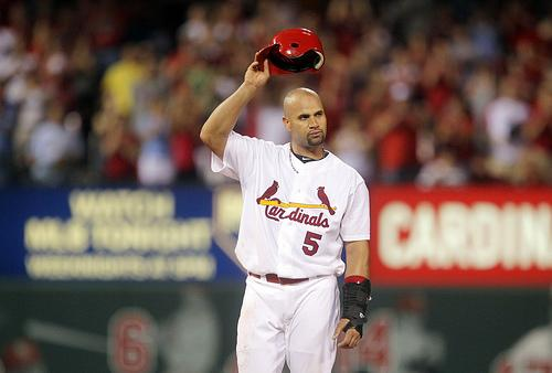 Former St. Louis Cardinals first baseman Albert Pujols.