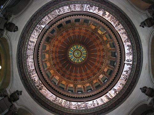 The dome of the Ill. Capitol.
